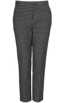 Topshop Gingham Cigarette Trouser
